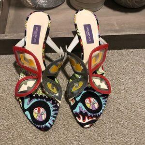 EMILIO PUCCI Gorgeous Butterfly Satin Kitten Heels